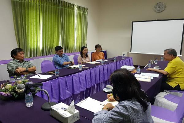 ประชุมหารือเเนวทางการดำเนินงานบริการวิชาการและที่ปรึกษา เพื่อขอรับทุนสนับสนุนจากภายนอกในประเด็น การศึกษาความเป็นไปได้แผนกลยุทธ์เชิงการท่องเที่ยวไทย-จี