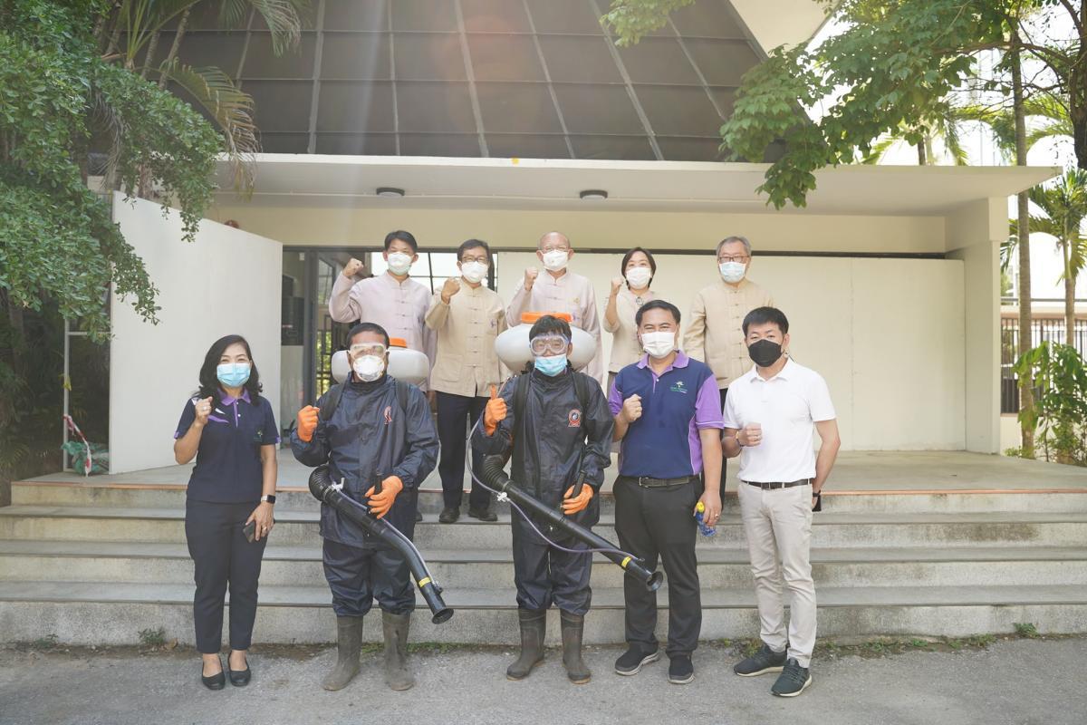ร่วมสนับสนุนน้ำยาซิลเวอร์นาโน ในการเตรียมความพร้อมของหอพักหญิงอาคาร 5 สำหรับนักศึกษาใหม่ ปีการศึกษา 2564